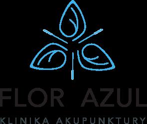 Logo Flor Azul - Klinika Akupunktury - Maria Czekaj - Pyrzyce, Szczecin, Gorzów Wielkopolski - Bańki, Moksybucja, masaż Gua Sha